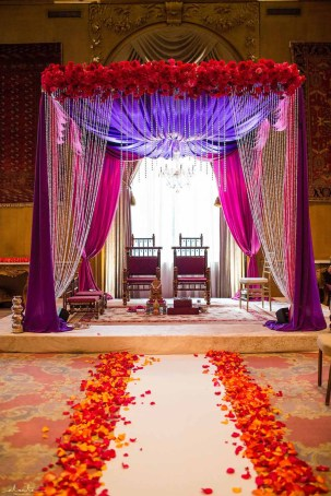 Flora Nova Design Seattle Indian Wedding Fairmont Olympic Hotel mandap