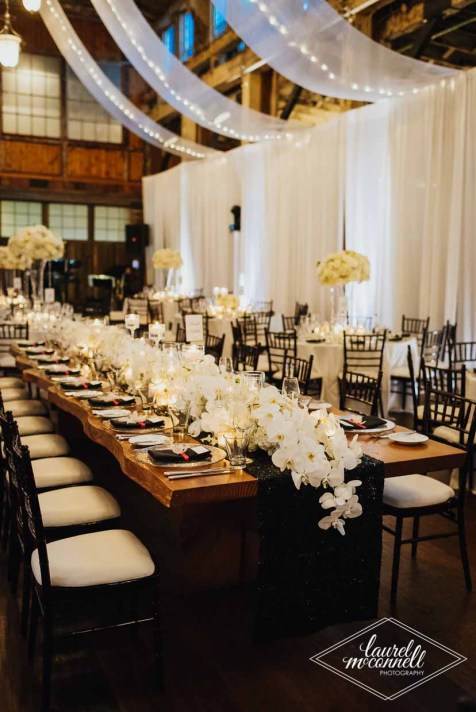 Flora Nova Design Seattle Luxury White Wedding Sodo Park Reception