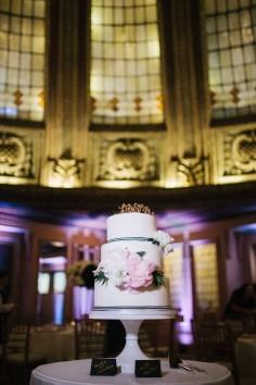 Flora Nova Design Seattle - Arctic Club Wedding cake with blush peonies