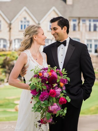 Flora Nova Design Seattle Colorful Indian Wedding New Castle Golf Club