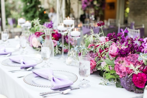 Flora Nova Design Seattle Purple Orchid Lakewold Garden Wedding