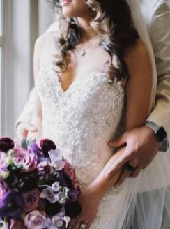 Elegant purple Seattle Fairmont Wedding Flora Nova Design