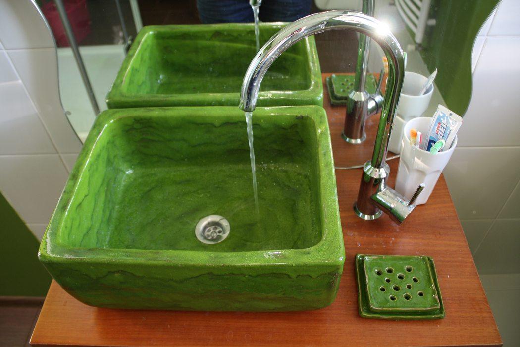 Badezimmer Idee Galerie  Handwerk Waschbecken