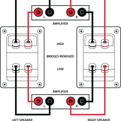 Home Speaker Wiring Diagram Delco Cs Alternator How To Bi Wire And Amp Stereo Speakers Full Connection Instructions V2