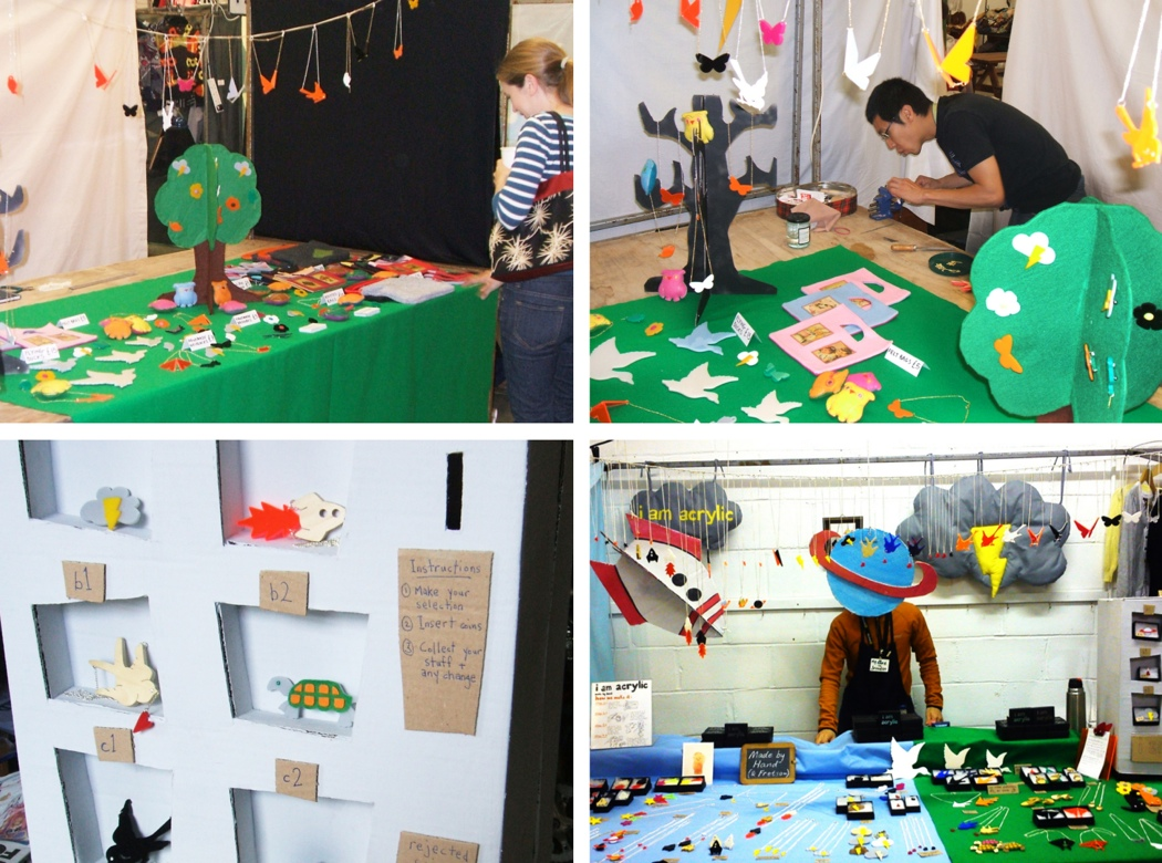 I am acrylic, stall display, craft fair display advice, ideas, sunday upmarket, backyard market, stour space