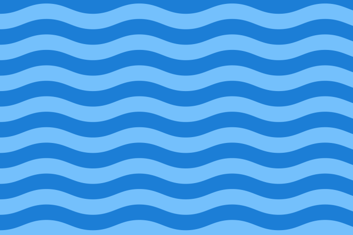A pattern using the wave from the flag