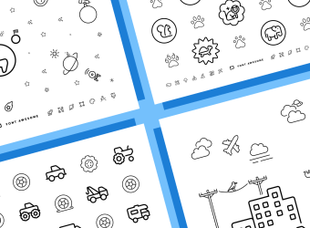 Font Awesome 6 Coloring Sheets