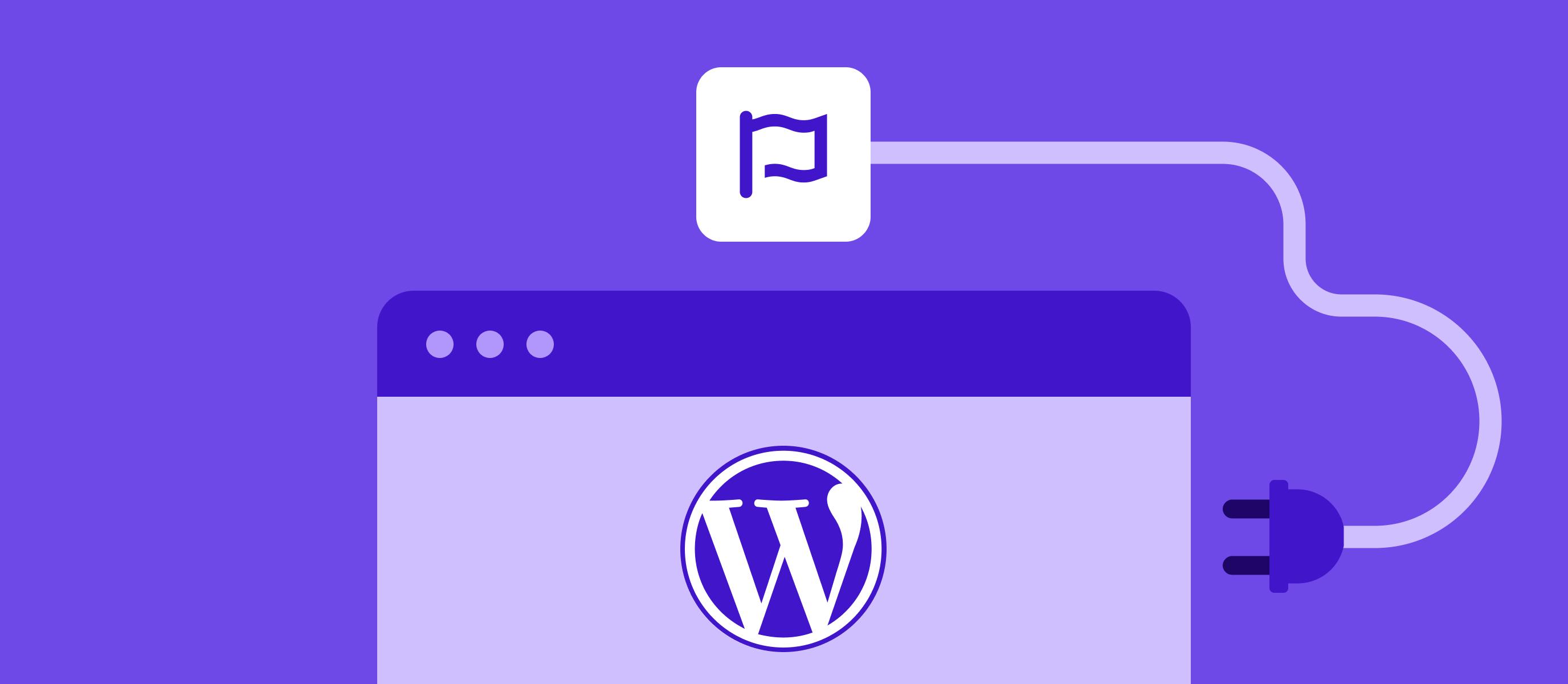 Font Awesome Flag Logo alongside WordPress Logo