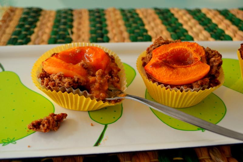 Aprikosen-Erdmandel-Muffins vegan und glutenfrei
