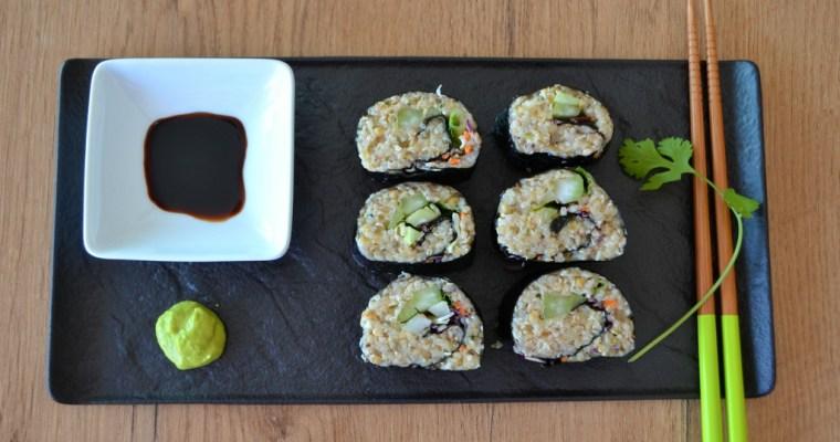 Sushi mit Sorghumhirse