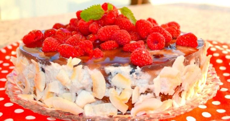 Kokos-Beeren-Torte – vegan und glutenfrei