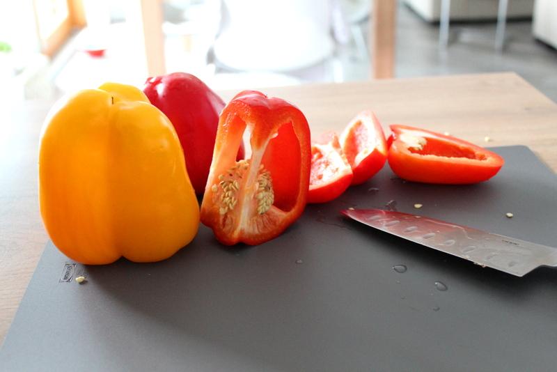 Gröstete Peperoni (Paprika) aus dem Backofen