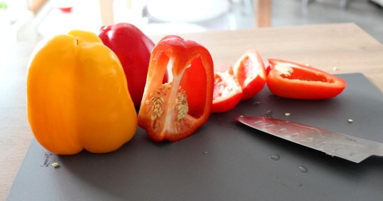 Peperoni arrostiti nel forno