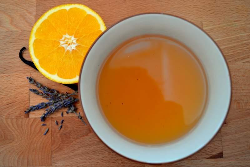 Lavendel-Orangen-Punsch