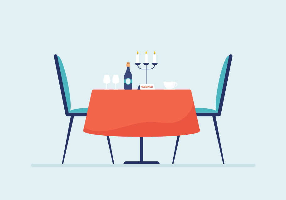 table reservation food ordering system