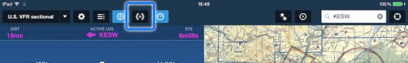 Pull flight plan changes by tapping the Connect icon.