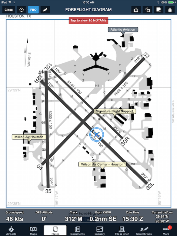 FBOs on Airport Diagram