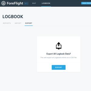 ForeFlight Logbook web export