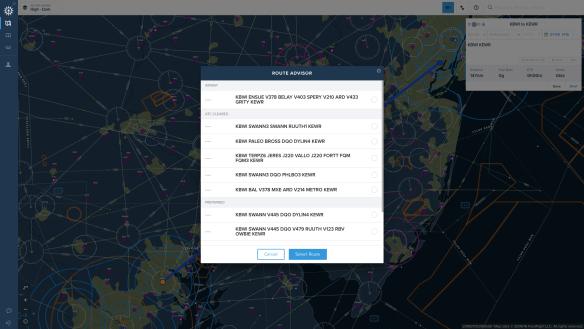 ForeFlight web planner route advisor