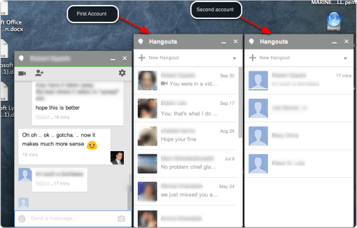 View of both chat modules on the bottom of the screen