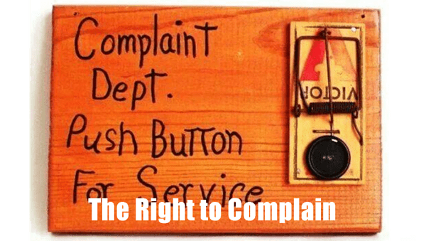 The Right to Complain