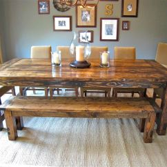Kitchen Table Benches Granite Counters How To Make Farmhouse Aptsforrent