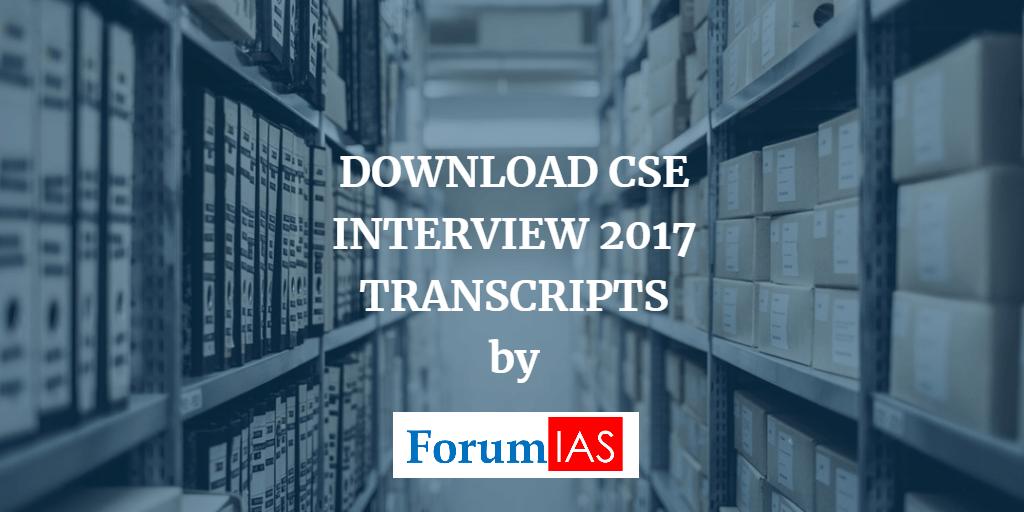 DOwnload CSE Interview Transcripts 2017