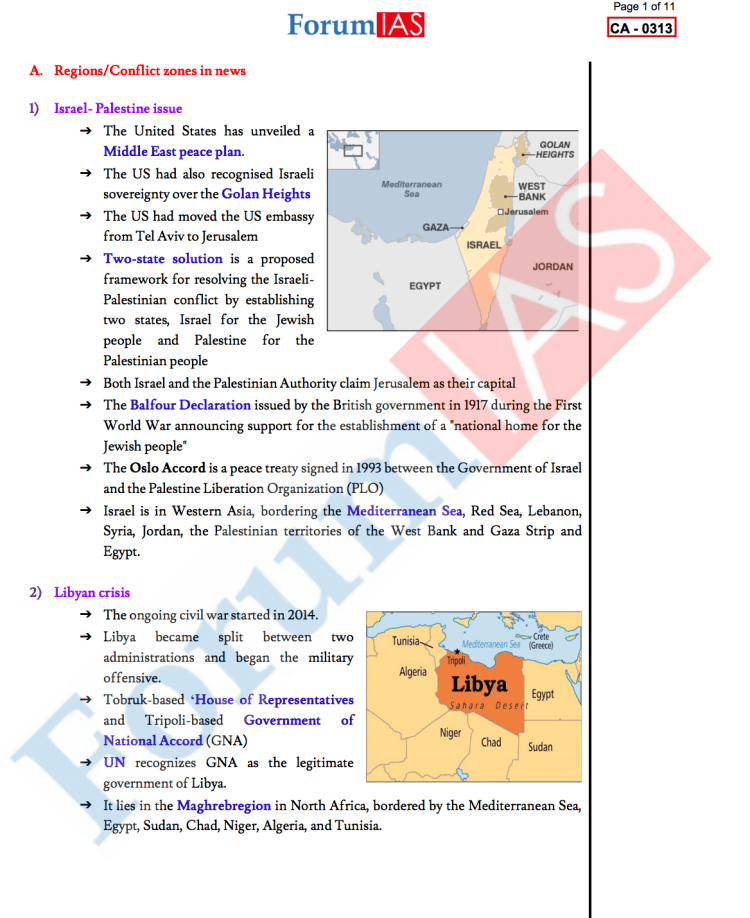 Current Affairs for Prelims 2020 Sample Note1