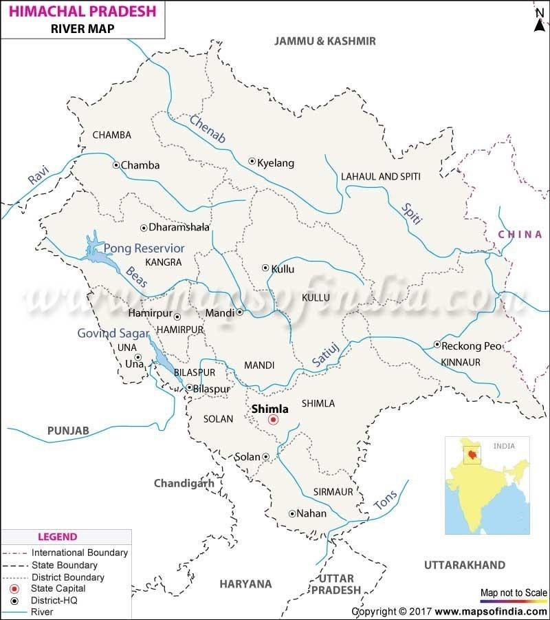 river map Himachal pradesh