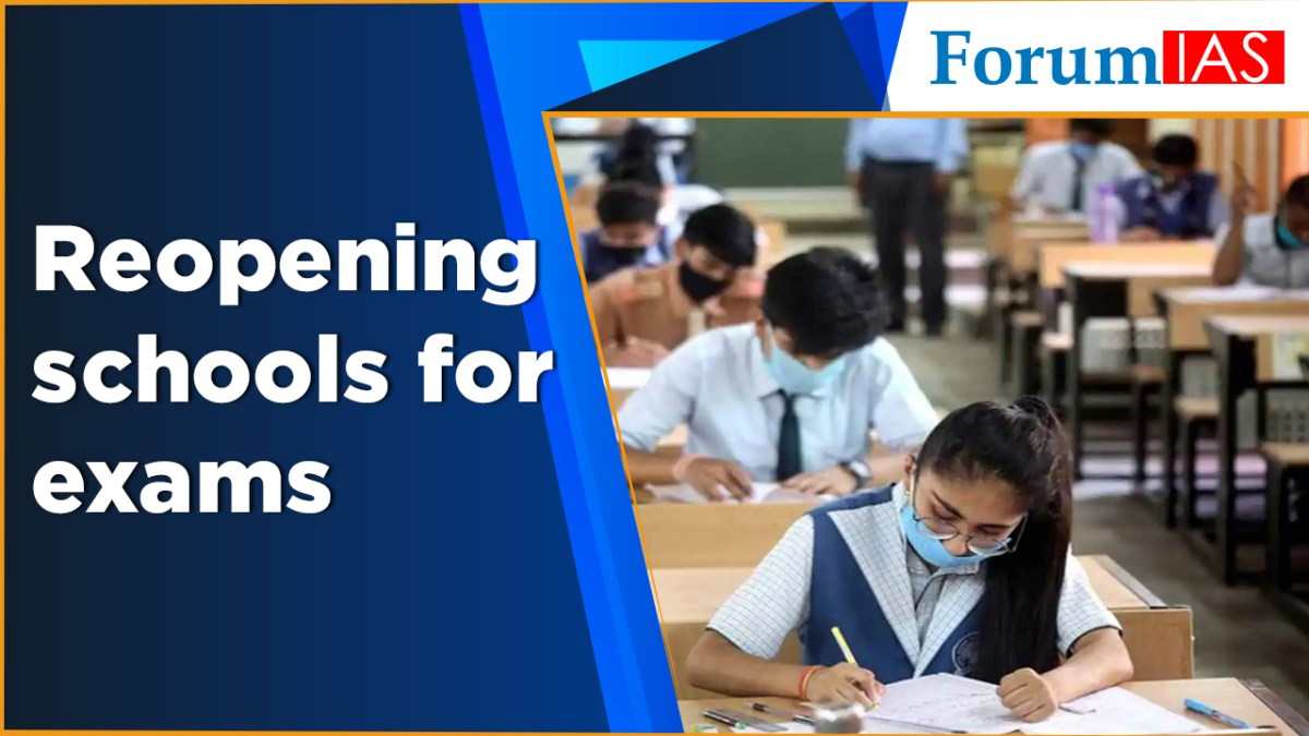 Reopening schools for exams