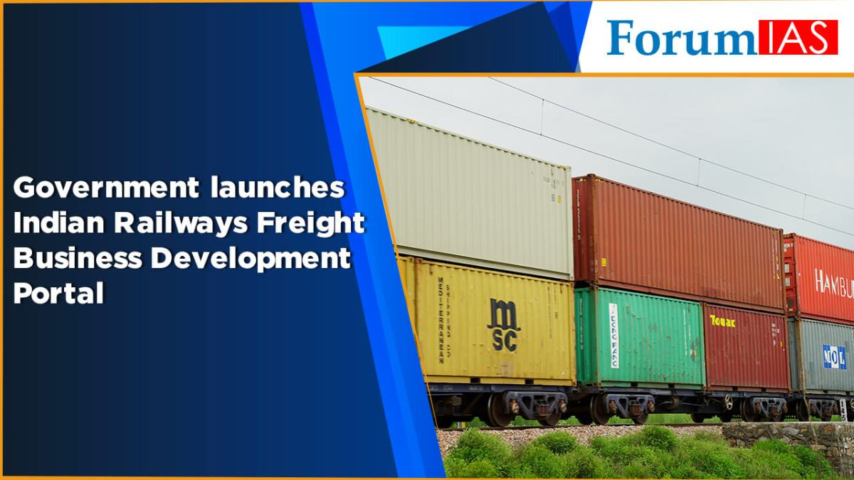 Government launches Indian Railways Freight Business Development Portal