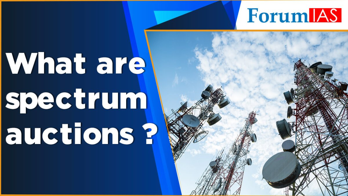 What are spectrum auctions?