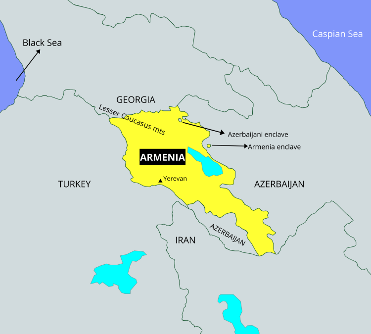 Places in news 2021 - Armenia