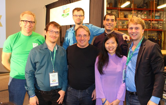 Linus Torvalds, FashionTec Community Members at Google Reunion