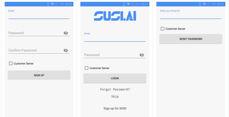 Making SUSI's login experience easy