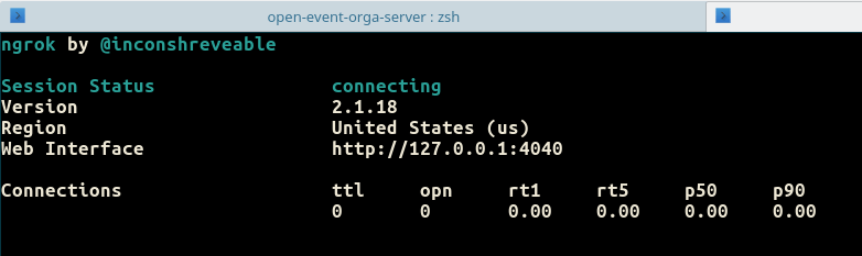 Running ngrok To Use Local Open Event API Server Endpoints From Public Access URL