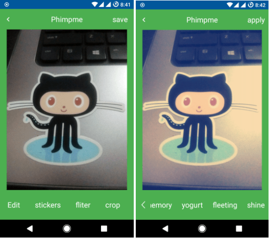 Adding Image Editor in Phimpme Android app