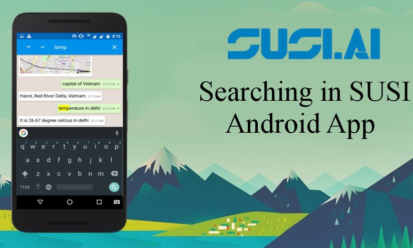 Search Functionalities in SUSI Android App Using Android SearchView Widget