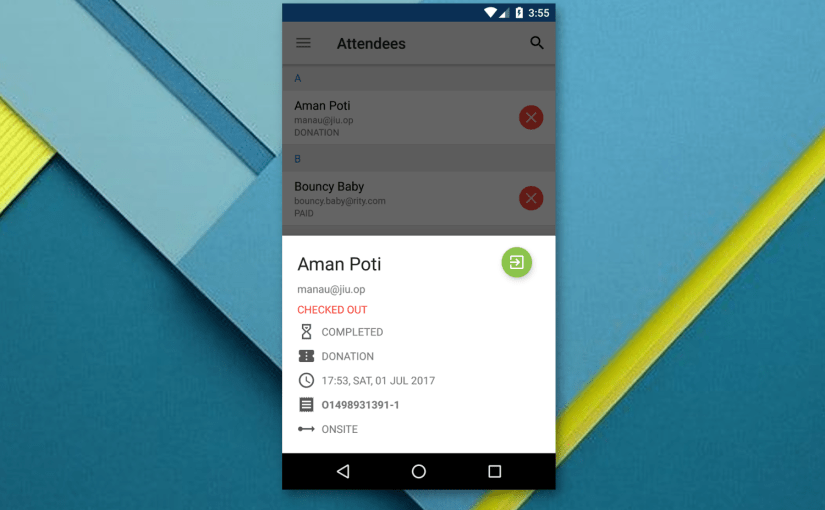 Implementing Attendee Detail BottomSheet UI in Open Event Orga App