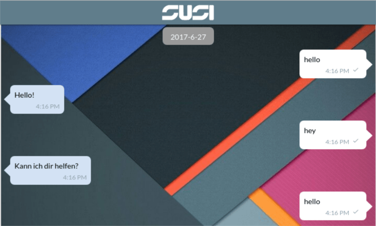 Change Background of Message Section in SUSI.AI Web Chat