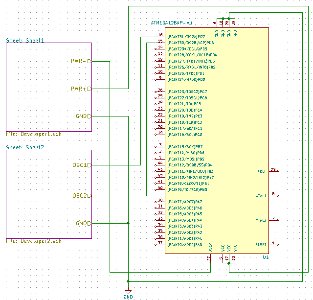 Using Hierarchical Blocks in KiCAD to Collaborate in PSLab Hardware Development