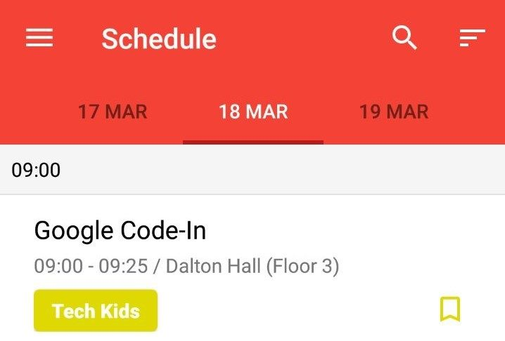 Addition of Bookmark Icon in Schedule ViewHolder in Open Event Android App