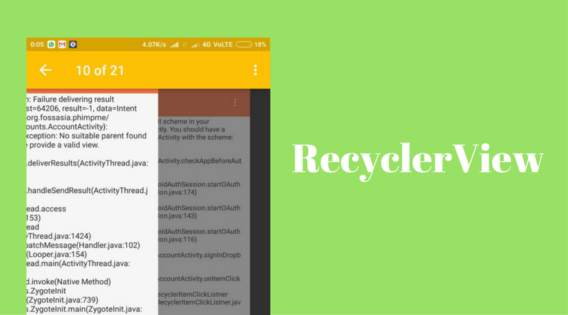 Using RecyclerView Instead Of ViewPager For Gallery | blog
