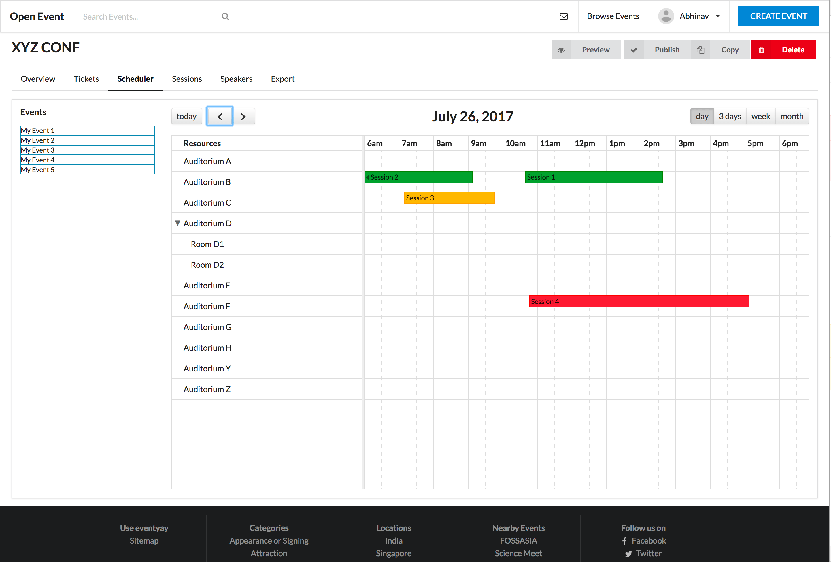 Implementing UI of the Scheduler in Open Event Frontend | blog