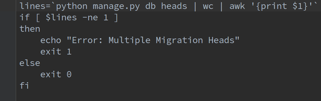 Checking For Multiple Migration Heads In Open Event server