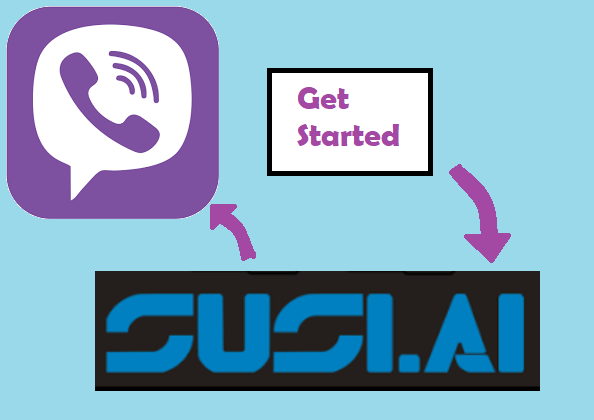"Showing ""Get started"" button in SUSI Viber bot"