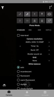 Timer Option in Phimpme Android's Camera | blog fossasia org