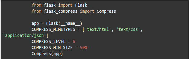Flask all it takes is just few lines of code to make your flask app optimized know more about the module check out flask compress module malvernweather Choice Image