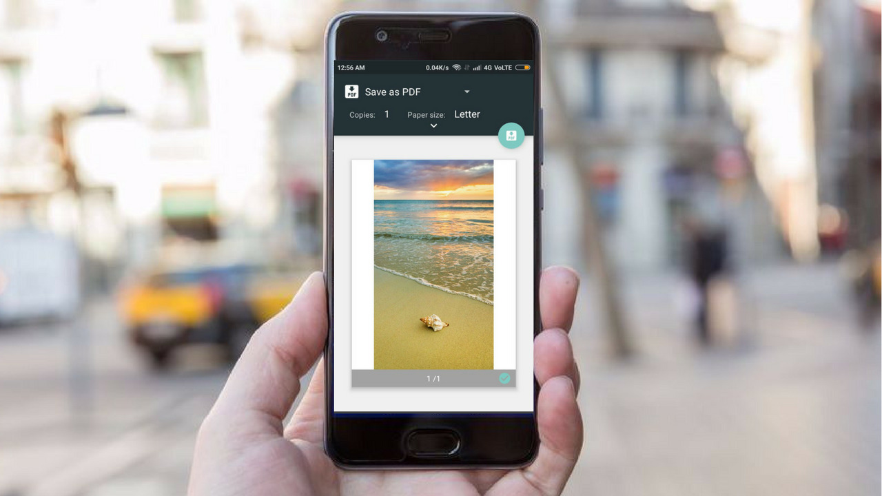 Option to Print Photos in the Phimpme Android Application