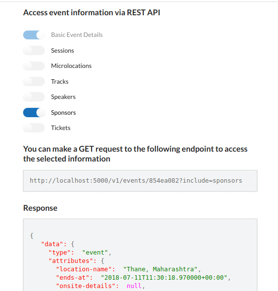 Open Event Frontend - Implement Access Event API via REST API | blog